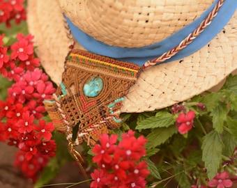 "Macrame boho beach Necklace ""Ocean breeze"""