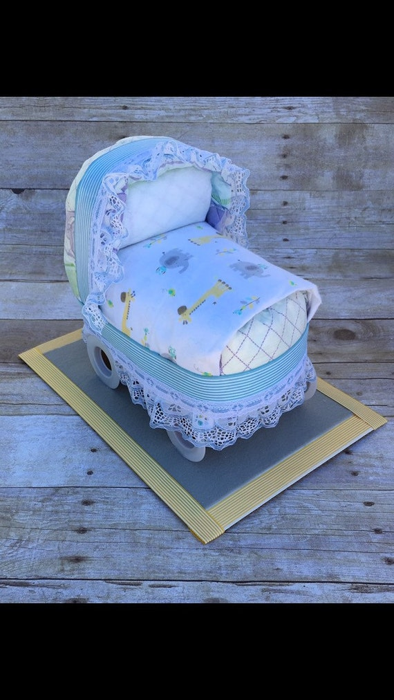 Items Similar To Baby Shower Centerpiece Diaper Bassinet