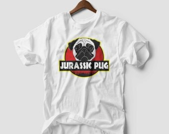 Jurassic Pug Funny Parody Urban Swag T-shirt Vest Tank Top Men Women Unisex
