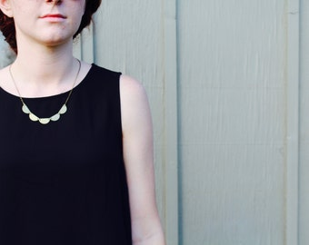 The Melanie // Simple Semi Circle Brass Necklace
