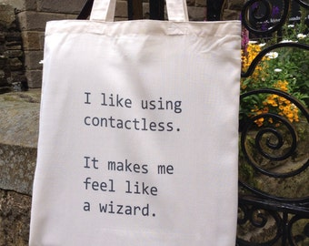 Contactless Card Wizard Tote Bag
