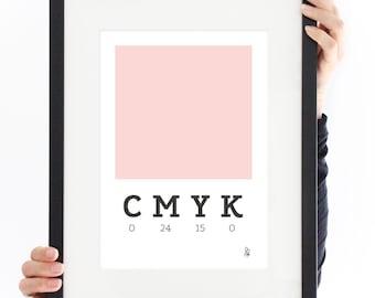 Printable / Poster CMYK / rosa / Digital Prints / Wall Decor / Instant Download / Graphic / minimal art / pink