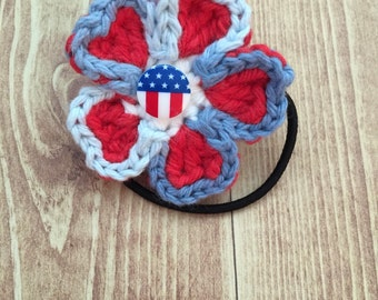 Stars and Stripes Flower Hairbands
