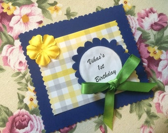 thankyou notes / cards/ favor tags , blue , set of 10