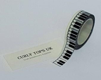 Washi tape, Piano washi tape, Music washi tape, Piano keys washi tape, Planner tape, Washi Tape, birthday tape, Craft tape,  party tape