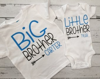 Sibling Shirts, Big Brother, Little Brother, Coming home from hospital, brothers, CHILDRENS CLOTHING