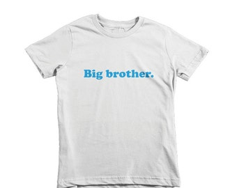 BIG BROTHER - Infant/Kids Jersey Short Sleeve T-Shirt - American Apparel - Colour, Color, T-Shirt, Kids, Typography