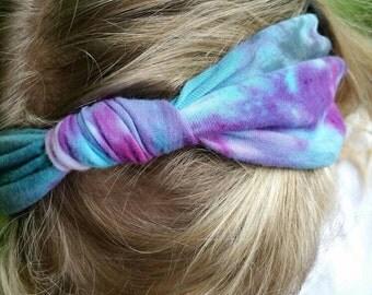 Funky Tie Dye Jersey Knot Headband/Headwrap