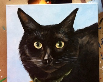 Custom 12x12 pet Portrait Painted from your Favorite Photo.