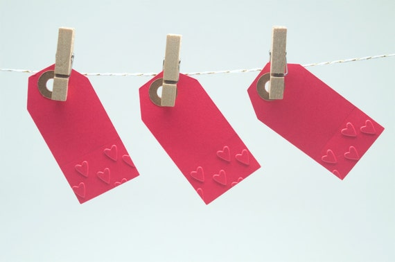 Gift Tags WeddingEmbossed Gift TagsSet of 14