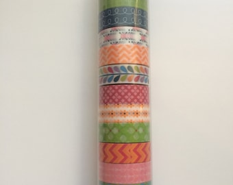 Multi-colored Pattern Washi Set
