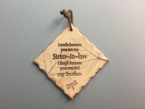 Perfect Wedding Gift For Sister: Sister In Law Gift Funny Sister In Law Gifts Funny Family