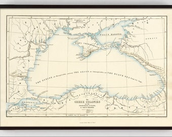 Old map of greece etsy antique map vintage map old map greek map ancient world map gumiabroncs Image collections