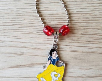 8 Pieces - Snow White Zipper Pull Party Favor