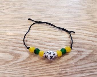 Handmade Brazil  Soccer Friendship Bracelet