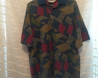 Vintage 90's Style Collared Shirt Large