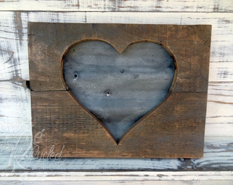 Heart Sign - Corrugated Metal (Medium) - Nursery Room - Baby Girl - Baby Boy - Wedding Sign - Kids Room Sign - Family Sign - Reclaimed Wood