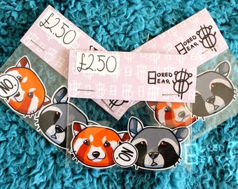 Red Panda & Raccoon Stickers