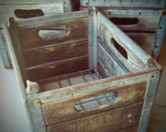 Vintage MIlk Crates