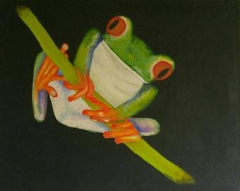 Vibrant Frog Portrait