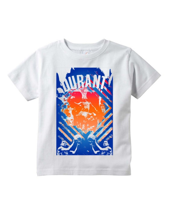 Kevin Durant Graphic White Youth T Shirt Kd By Nuelifeyouth