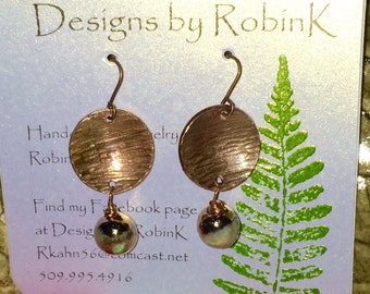 Hammered and domed Copper