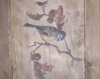 Handcrafted Rustic Bird Wall Decor