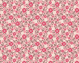 By The HALF YARD - Roundup by Samantha Walker for Riley Blake Fabrics, Pattern #C3743 - Cowboy Floral Pink, Western, Cowboy, Boots, Horse