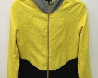 Vintage 90's Head Yellow Black Sport Classic Design Skate Sweat Shirt Sweater Varsity Jacket Size M #C15