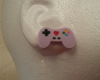 Purple Video Game Controller Earrings- Gamer Gear- Gamer Style- Lolita Style
