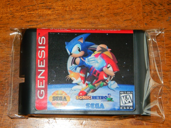 Sonic Classic Heros Fan Made Sega Genesis By Retrogamingworld
