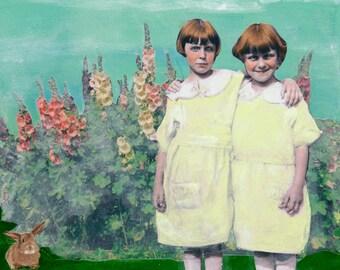 Hollyhocks - Original Painting