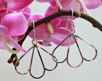Sterling Silver Vintage Inspired Flower Petal Earrings