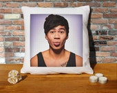 Calum Hood Cushion Pillow - Pop Art - 100% cotton - 16x16 inches