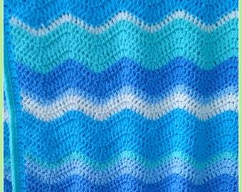 Baby blanket, crochet baby blanket, ripple, baby cot blanket, baby boy blanket, baby girl blanket, baby shower