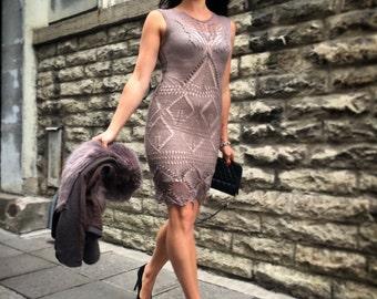 "Lace "" Warm Taupe dress"""