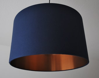 "Lampshade ""Navy-copper"""
