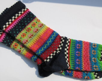 Colorful fair Isle socks Roughntough GR 38 / 39