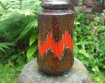 Vintage West German Vase 549 with Lora decor by Scheurich