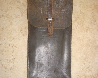 Vintage WWII Military leather case