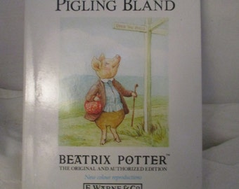 The Tale of Pigling Bland Beatrix Potter Book F.Warne & Co