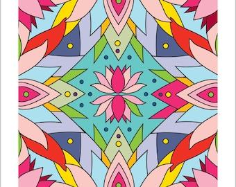 Mandala print