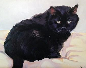 Commission a Custom Pet Portrait Painting - 12x16