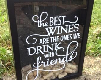 Wine Cork Holder, Wine Cork Shadowbox, Cork Holder, Cork Frame, Cork Box, Wine Cork Shadowbox, 11x14