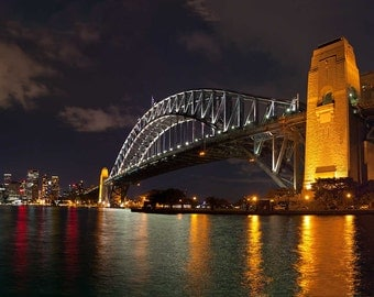 Sydney Harbour Bridge at night Photograph