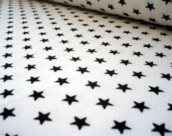 Jersey Black&White Little Stars White OEkotex100