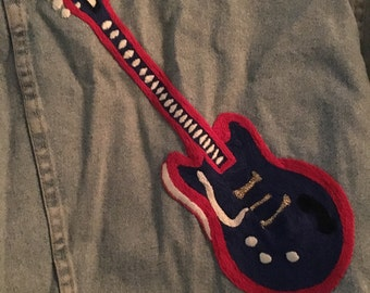Denim jacket-Guitar man