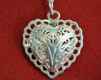 Fancy Heart Pearl Locket Pendant