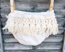 Fringy Boho Baby Bloomer (Diaper Cover)