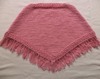 Knitted baby poncho 74/80-86/92 wool poncho baby